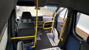 Binnenkant mobility4all bus