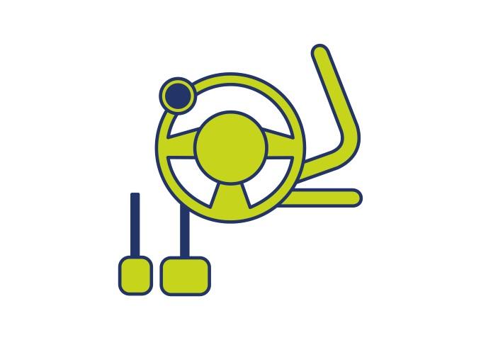 Vele zelfrijder auto of bus aanpassingen