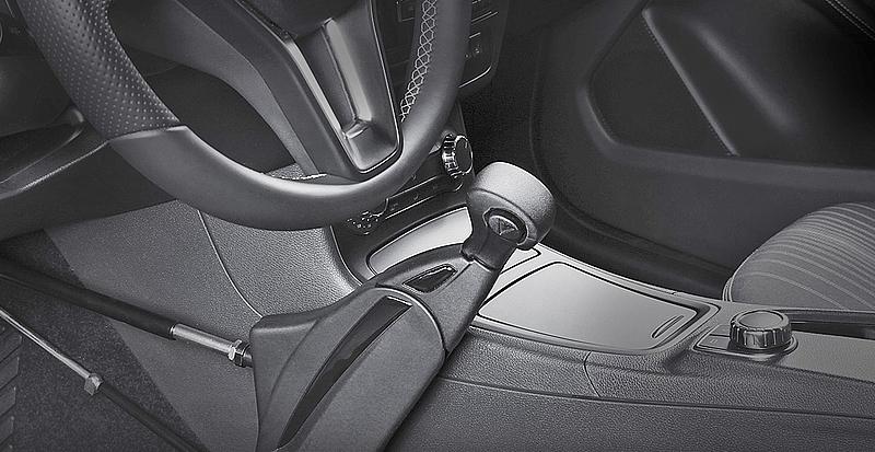 Puch-Pull systeem: Handrem , handgas combinatie